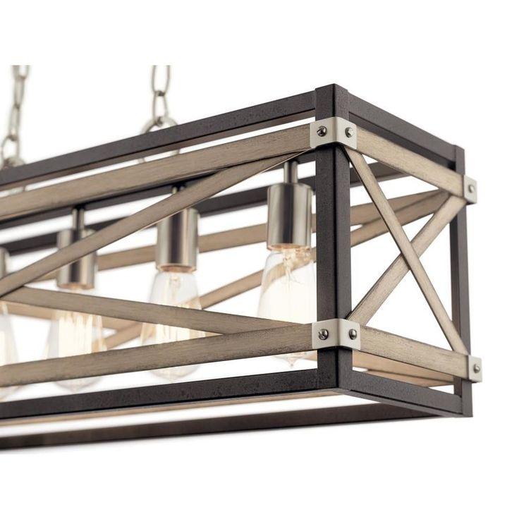 Kichler stetton linear farmhouse rectangle pendant light