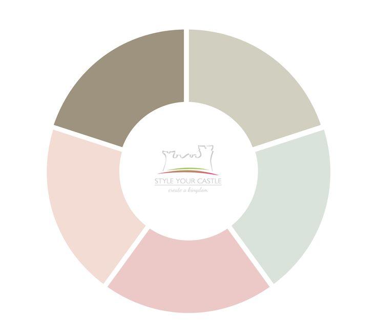 Farbpalette für farbige Steinfliesen