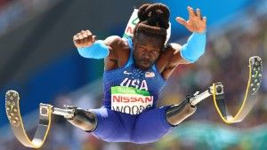 RIO DE JANEIRO, BRAZIL - SEPTEMBER 17:  Regas Woods of United States competes in the Men's Long Jump - T42 final during day 10 of the Rio 2016 Paralympic Games at the Olympic Stadium on September 17, 2016 in Rio de Janeiro, Brazil. (Photo by Lucas Uebel/Getty Images)