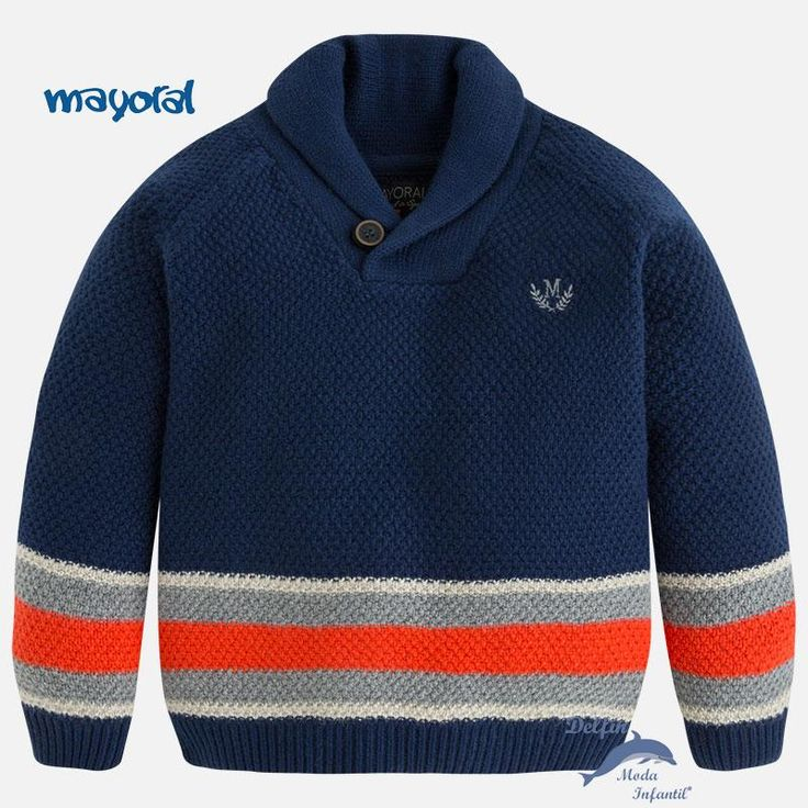 Jersey para niño de MAYORAL de bloques con cuello de solapa