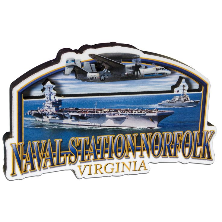 MGNV56 Magnet Wood Montage - Naval Station Norfolk