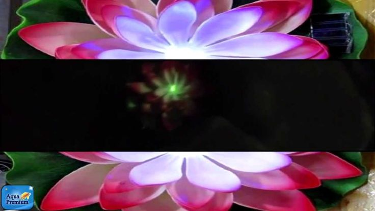 New solar powered led Lilly pad pond lights from Aquael
