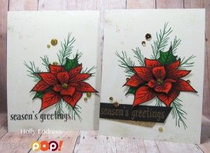 Poinsettia and Pine: Altenew, zig markers