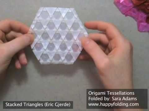 "Origami Tessellations article from ""the  fold"" with links for showing how to do the tessellaitons"