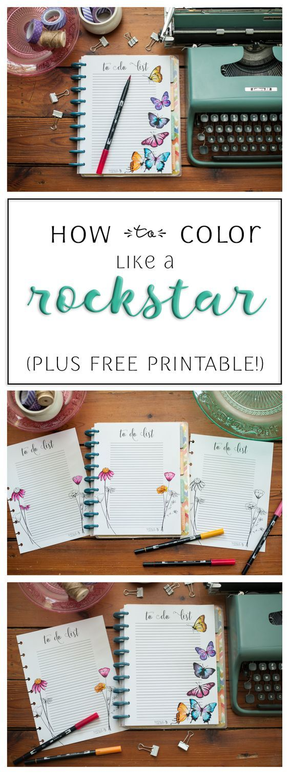 The color-play coloring book moma - How To Color Like A Rockstar Plus Free Happy Planner Printable Happyplanner