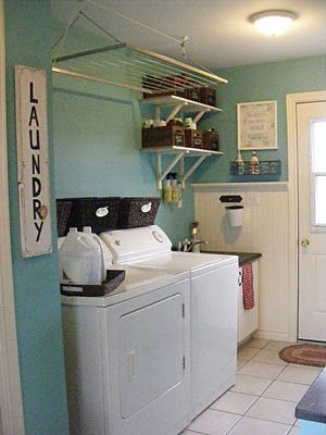 Laundry room idea! The Complete Guide to Imperfect Homemaking: 31 DAYS TO