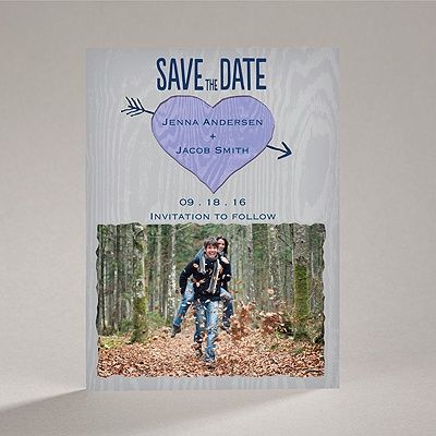 Natural Look - Orchid - Save the Date Magnet | Invitations By Dawn