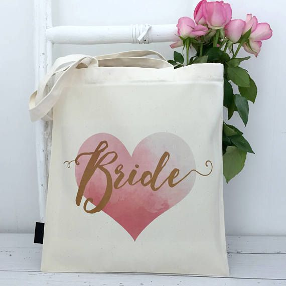 This gorgeous pink and gold Bride bag is perfect for keeping your essentials handy as you hunt down the perfect dress and venue!