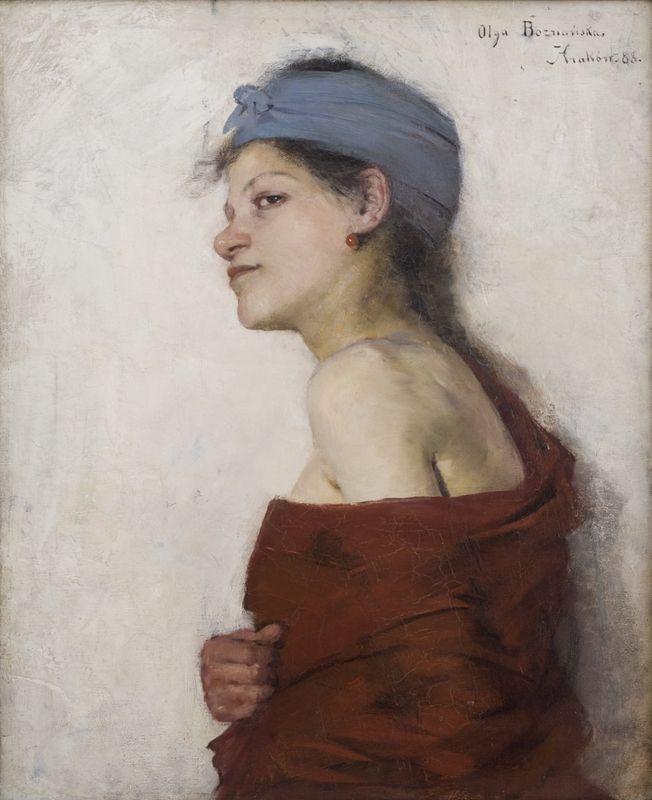 """""""Portret kobiety (Cyganka)"""", 1888, wł. Muzeum Narodowe w Krakowie."""