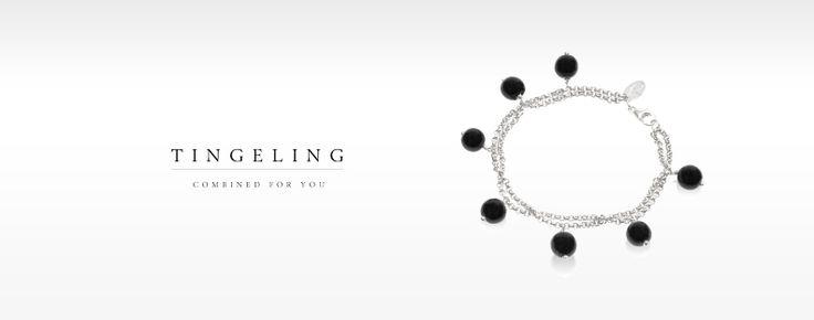 Tingeling Armband med 7 Jadeitestenar och en fin silverkedja i Sterling 925. Går att beställa i olika färger.