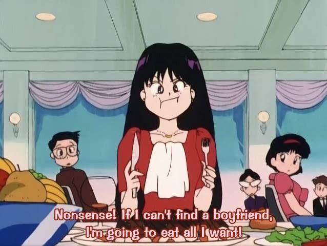 Wise words from Sailor Mars. Thank you, Rei, for those words of wisdom.