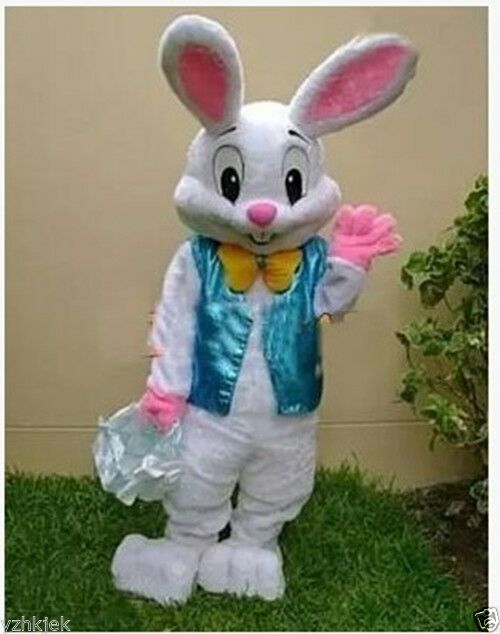 Kids Child Inflatable Bunny Rabbit Mascot Costume Outfit Suit Halloween Easter
