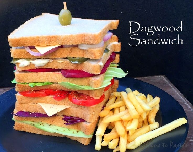 Ribbon's to Pasta's: Vegetarian Dagwood Sandwich