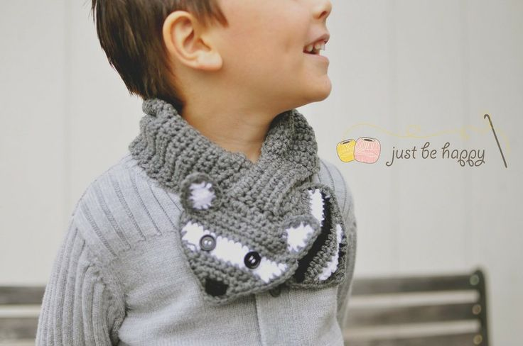 Fox or Raccoon Knot Scarf by Just Be Happy