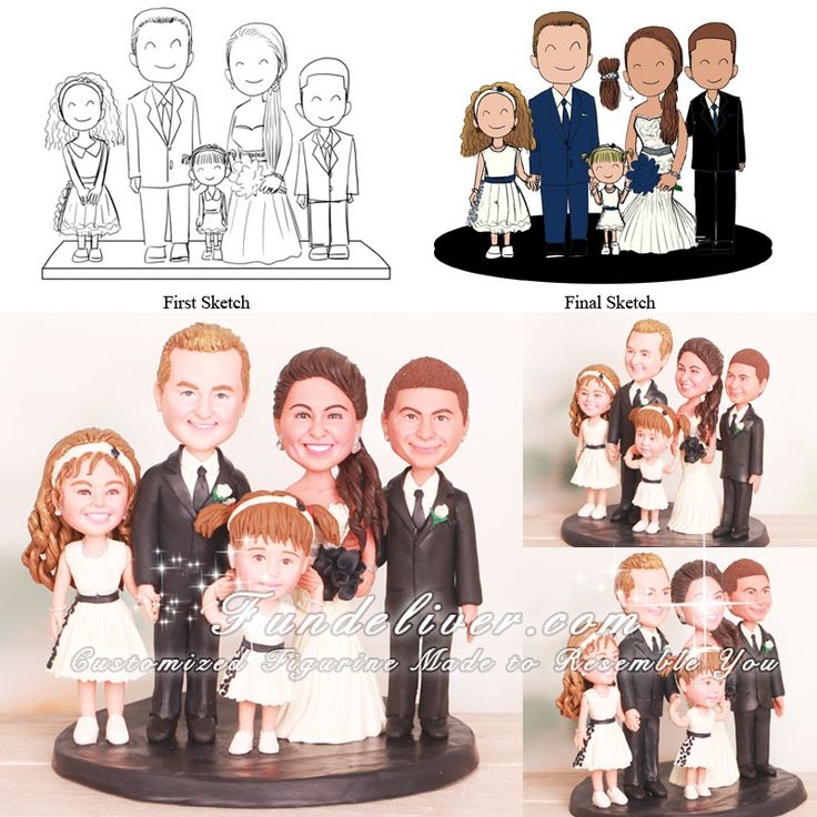 funny family wedding cake toppers 1000 images about theme wedding cake toppers on 14544