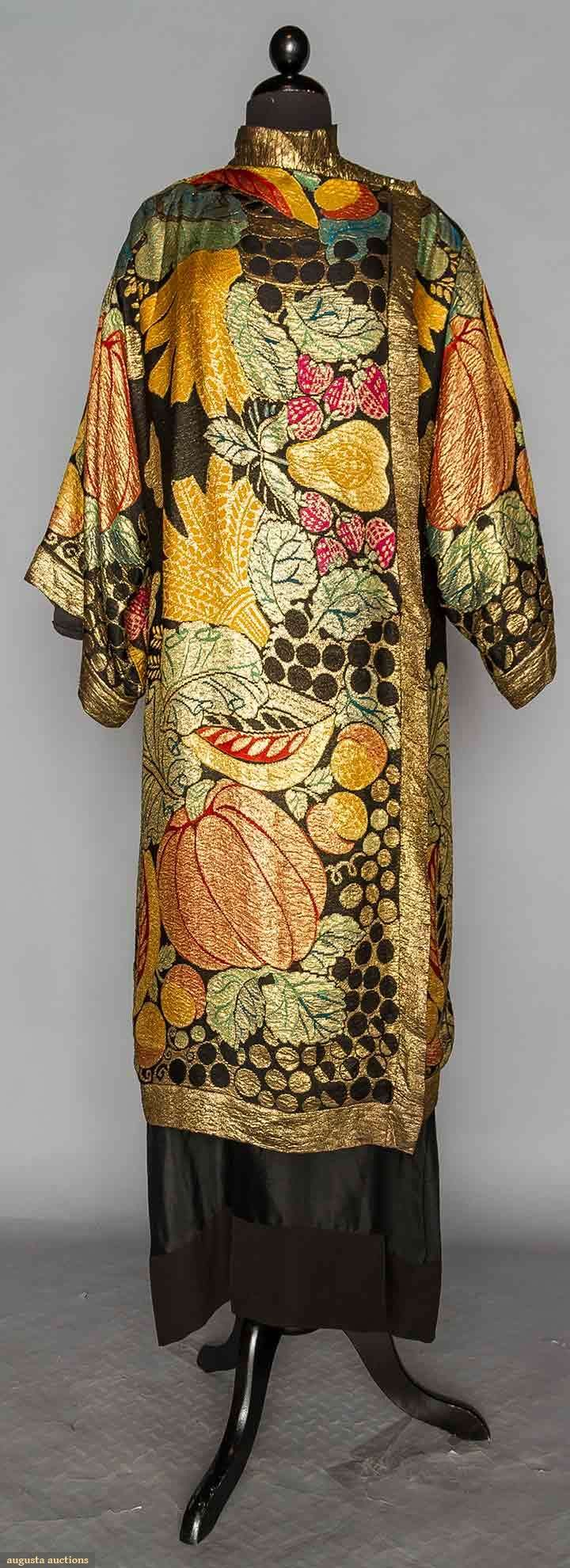 Evening Coat (image 1) | 1920s |  silk, lame | Augusta Auctions | April 20, 2016/Lot 314