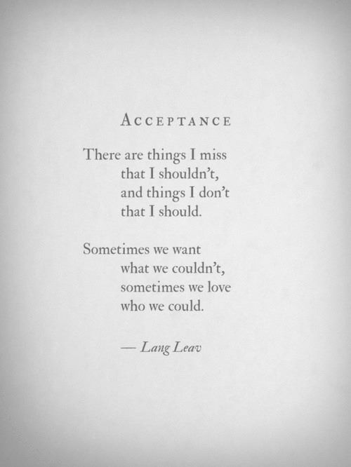 Acceptance by Lang Leav. Poetry. Poem.