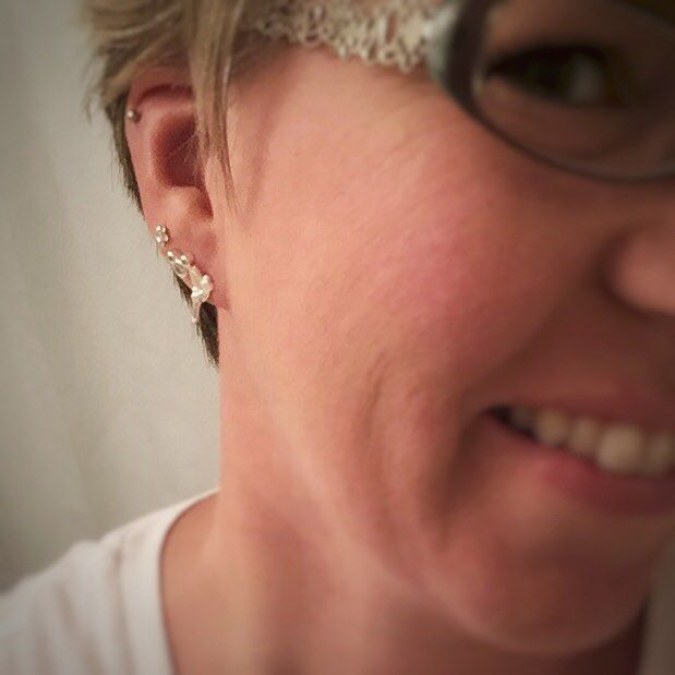 I had a lovely week at the happiest place on earth with some wonderful friends and found some adorable little souvenirs  . #earringsoftheday #mickeymouse #tinkerbell