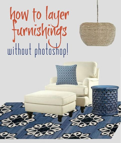 how to digitally layer furnishings without photoshop: Photoshop Elements, Design Ideas, Layered Image, Photography Image, Free Tools, Blog Design, Baby Photography, Create Rooms, Computers Photoshop