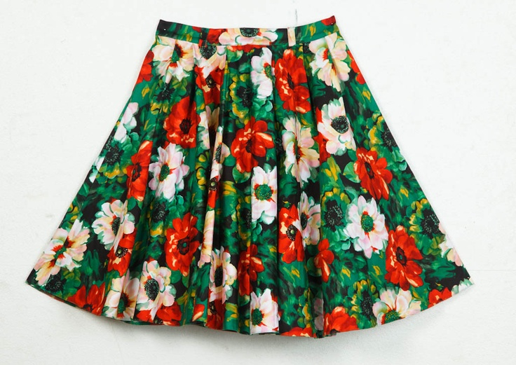 Floral skirt from Robot @GLAMOUR South Africa