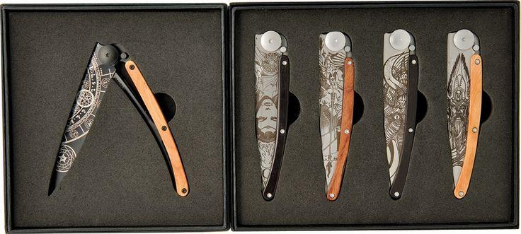 Deejo: Fantasy Set of 5, 37g Knives.