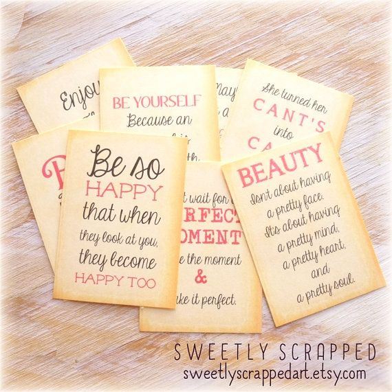 QUOTE Journal Cards Pocket Letters by SweetlyScrappedArt on Etsy