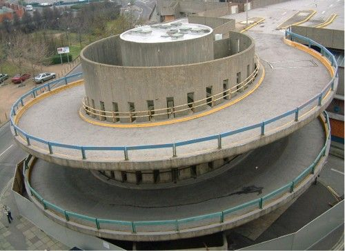 Entrance to car park at the Tricorn Centre, Portsmouth (now demolished)
