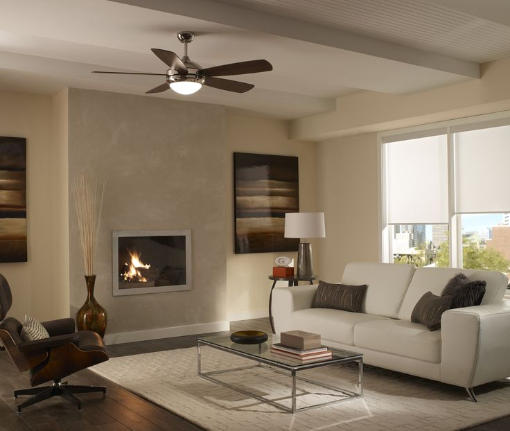With a minimalist, contemporary design, the Discus fan by Monte Carlo  complements a wide variety of room styles. Discus is offered in five  finishes, ... - 34 Best Images About Living Room Ceiling Fan Ideas On Pinterest