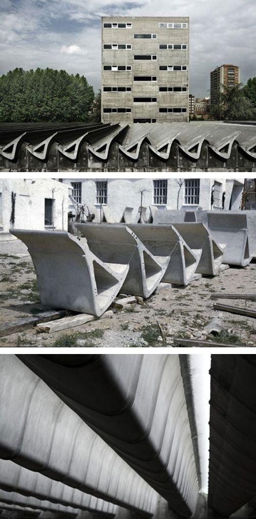 Miguel Fisac, Spanish Architect (Centro de Estudios Hidrográficos), Madrid.