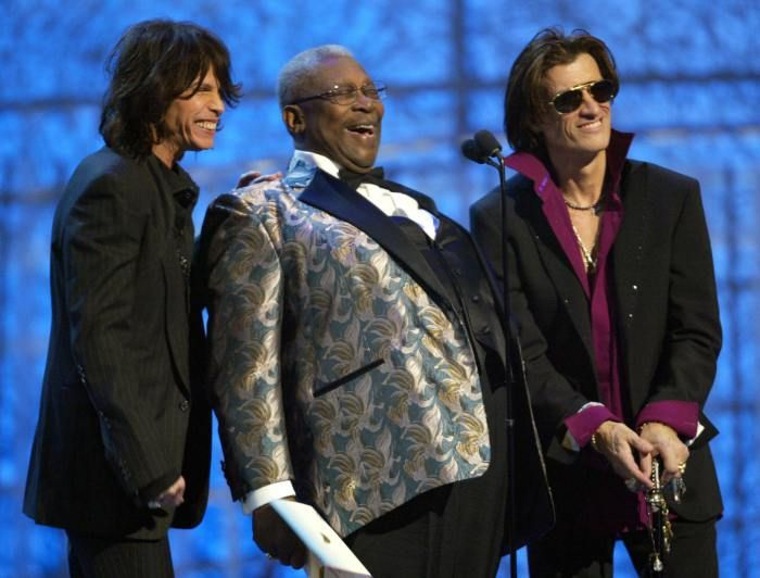 Steven Tyler, B.B. King, and Joe Perry