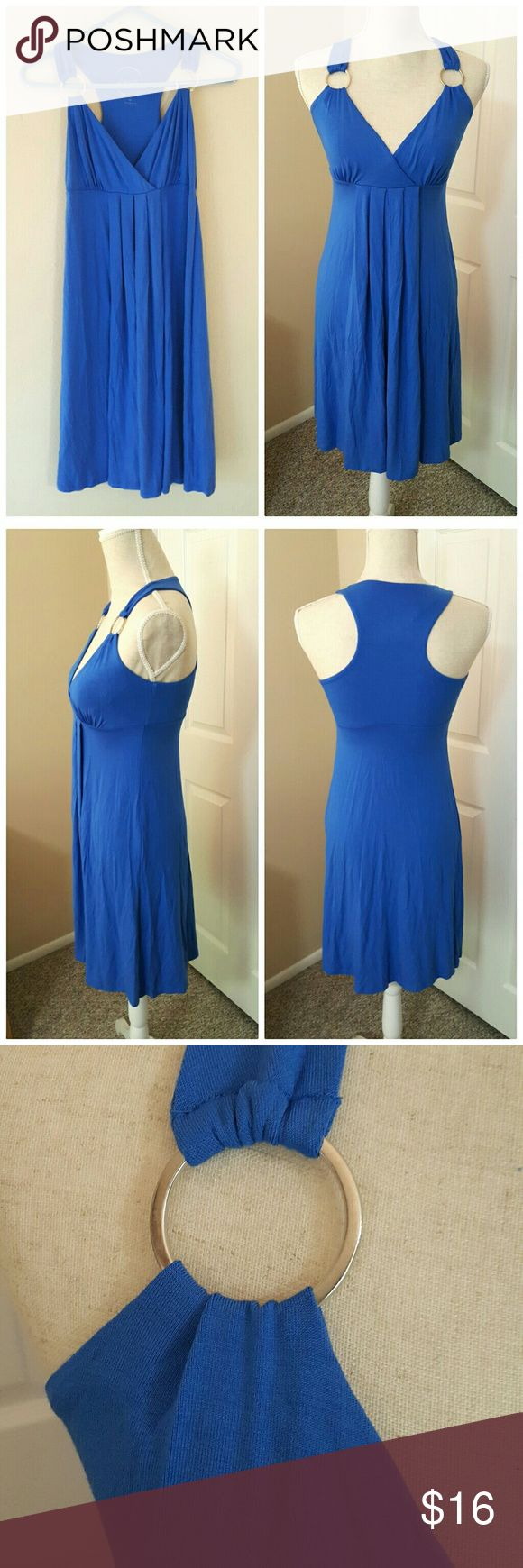 """INC Royal Blue Midi Evening Dress Size XS/S Beautiful women's dress from INC International Concepts. Nice blue color. Labeled XS. Fits Small better. Stretch type fabric - 95% rayon, 5% spandex. Perfect for casual evening events or special dates. Also great maternity dress! Hardly worn and basically new.  ℹ Bust 32""""-34"""" ℹ Length 35"""" shoulder to hem International Concepts Dresses"""