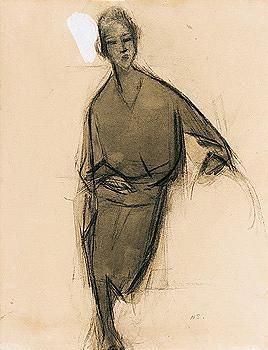 Helene Schjerfbeck - tyylikas nainen (an elegant lady)