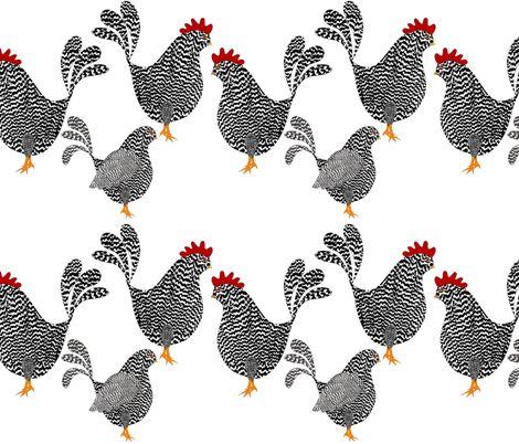 Chick, Chick, Chickens fabric by vo_aka_virginiao on Spoonflower - custom fabric