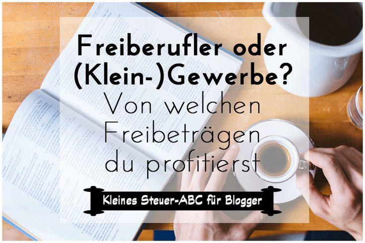 Bloggen f�r Geld: Unterschied Freiberufler Kleingewerbe Wer mit dem Bloggen Geld verdient, muss sich fr�her oder sp�ter auch um Steuern & Krankenversicherung k�mmern. Zun�chst sollte aber erst einmal eine Steuernummer beantragt werden. Z�hlst du zu den Freiberuflern, musst du kein Gewerbe anmelden und demnach auch keine Gewerbesteuer zahlen. Wann du zu den Freiberuflern z�hst und von welchen Freibetr�gen du noch profitieren kannst, erf�hrst du im folgenden Artikel>>