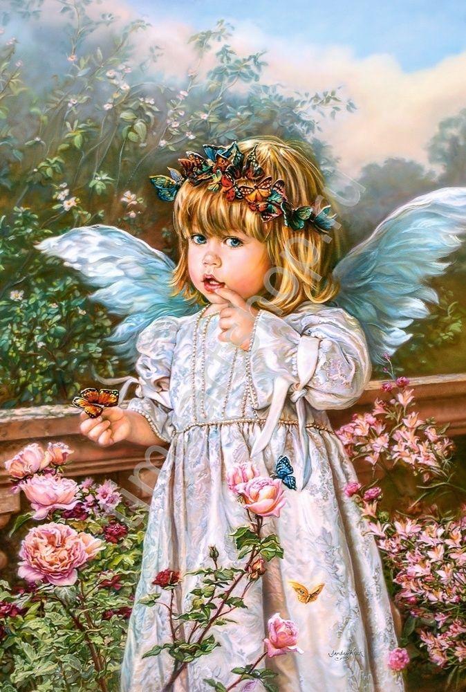 Ангельский ребенок, картина раскраска по номерам, размер ...