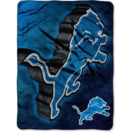 NFL Detroit Lions 60 inch x 80 inch Oversized Micro Raschel Throw, Multicolor