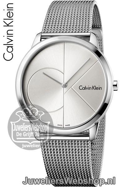 Calvin Klein Minimal Gent Zilver K3M2112Z Horloge Heren. Nieuwe collectie 2017. #calvinklein #ckwatch #ckminimal #juwelierswebshop