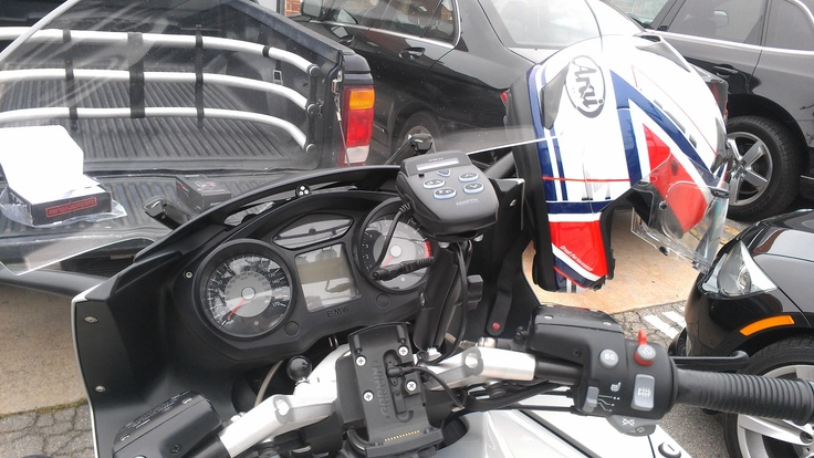 Freshly installed TPX Detector on a BMW K1200GT! #AdaptivTech #TPXDetector #BMW #K1200GT