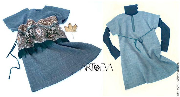 Шьем осеннюю обновку — платье-тунику с отделкой из павловопосадского платка - Ярмарка Мастеров - ручная работа, handmade
