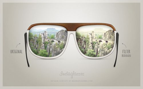 Concept Design For 'Instagram Sunglasses', See The World In Filters - DesignTAXI.com