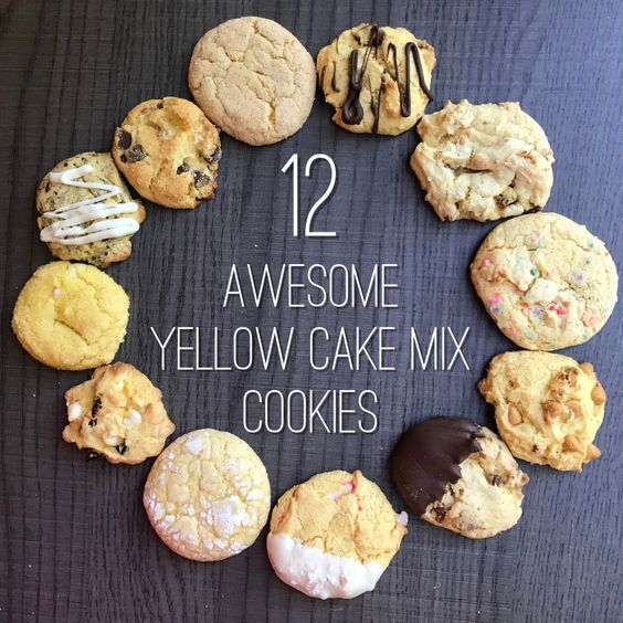 With a box of yellow cake mix prepared with a basic recipe and various mix-ins that you probably have on hand, you can create delicious cake mix cookies that taste like they were made from scratch.