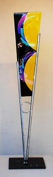 Contemporary Metal and Glass Sculpture by Jeff Owen and Marc Demain