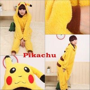 Hot New KIGURUMI Pikachu Anime Cosplay Costume Unisex Adult