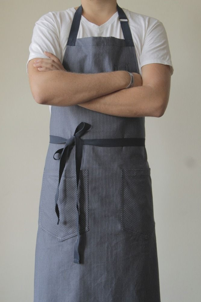 Great Japanese denim apron from Hedley & Bennett -- they were recently featured in the Sunday New York Times