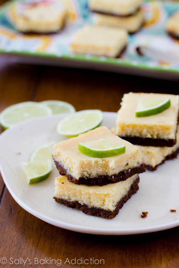 Easy Key Lime Pie Squares - only 6 ingredients! Use Gluten free gingersnap cookies to ensure bars are gluten free