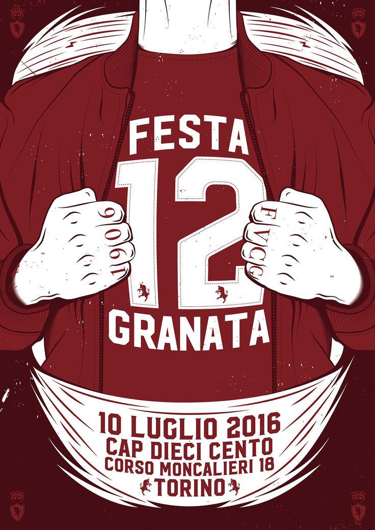 """POSTER: FESTA GRANATA """"TORINO FC 1906"""" on Behance"""