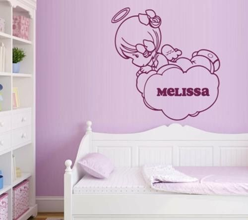 VINYL DECAL PERSONALISED BABY ANGEL WALL ART STICKER