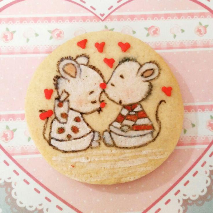 Galleta de mantequilla  ratoncitos enamorados