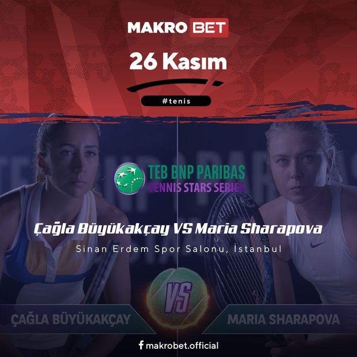 TEB BNP Paribas Tennis Stars Series – 2017 Teniste milli gururumuz Çağla #Büyükakçay'ın da bulunduğu BNP #ParibasTennisStars bugün önemli bir mücadeleye tanık oluyor. Dünyaca ünlü 4 numaralı seri başı Maria Yuryevna #Sharapova ile bugün Sinan Erdem Spor Salonu'nda saat 14:00'te karşı karşıya gelecek olan ikilinin aylar öncesinden medyada ki yankısı devam ediyor. İki sporcu adına zorlu geçecek bu mücadelede #Tenis severler için #Enyüksekbahisoranları #Makrobet'te sizlerle…