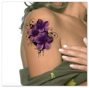Waterproof Ultra Thin Flower Tattoo Realistic Fake Tattoos